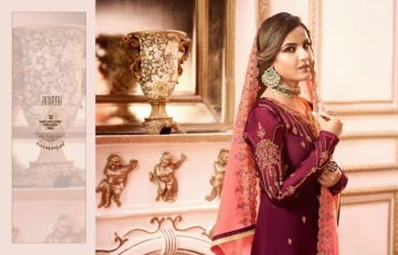 AMIRAH SHARARA VOL-02 SATIN GEORGETTE HEAVY EMBRODERY WORK SUITS WHOLESALE PRICE(7)JPG