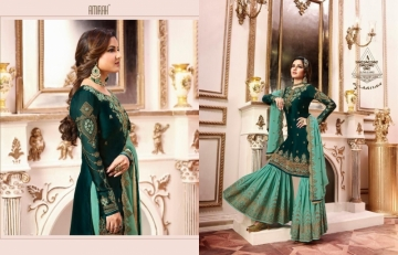 AMIRAH SHARARA VOL-02 SATIN GEORGETTE HEAVY EMBRODERY WORK SUITS WHOLESALE PRICE(8)JPG