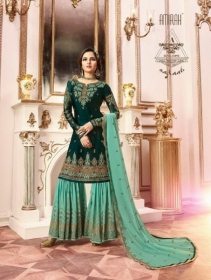 AMIRAH SHARARA VOL-02 SATIN GEORGETTE HEAVY EMBRODERY WORK SUITS WHOLESALE PRICE(9)JPG