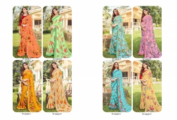 ANGAN PRESENTS APSARA GEORGETTE PRINTED SAREES (10) JPG