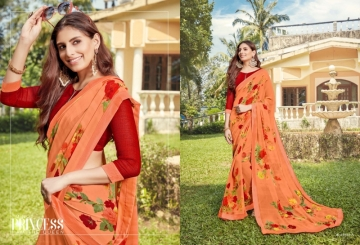 ANGAN PRESENTS APSARA GEORGETTE PRINTED SAREES (2) JPG