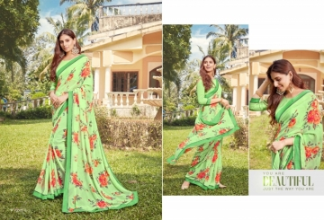 ANGAN PRESENTS APSARA GEORGETTE PRINTED SAREES (3) JPG