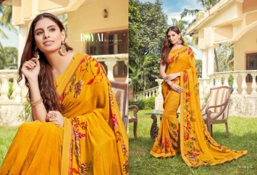 ANGAN PRESENTS APSARA GEORGETTE PRINTED SAREES (4) JPG