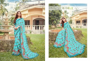 ANGAN PRESENTS APSARA GEORGETTE PRINTED SAREES (8) JPG