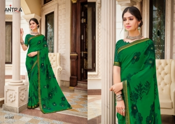 ANTRA PRESENTS RED QUEEN GEORGETTE DIAMOND LACE PRINT SAREE WHOLESALE PRICE (01) JPG