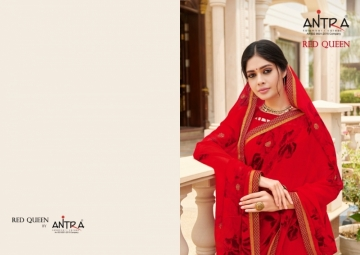 ANTRA PRESENTS RED QUEEN GEORGETTE DIAMOND LACE PRINT SAREE WHOLESALE PRICE (10) JPG