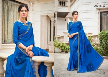 ANTRA PRESENTS RED QUEEN GEORGETTE DIAMOND LACE PRINT SAREE WHOLESALE PRICE (4) JPG
