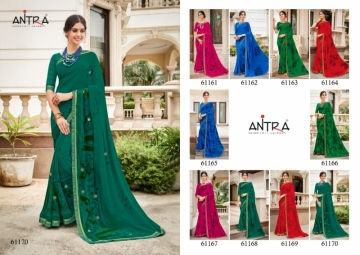 ANTRA PRESENTS RED QUEEN GEORGETTE DIAMOND LACE PRINT SAREE WHOLESALE PRICE (5) JPG