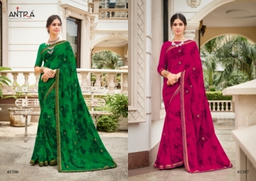 ANTRA PRESENTS RED QUEEN GEORGETTE DIAMOND LACE PRINT SAREE WHOLESALE PRICE (6) JPG