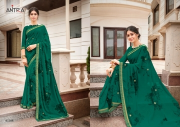 ANTRA PRESENTS RED QUEEN GEORGETTE DIAMOND LACE PRINT SAREE WHOLESALE PRICE (8) JPG