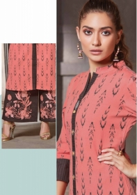 FEMINISTA HASHTAG VOL 2 RAYON KURTIS WITH PALAZZO PANTS WHOLESALE PRICE(11JJPG