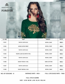 ARIHANT NX FOREVER TAPETA SATIN WITH REYON DESIGNER LONG PARTY WEAR GOWN WHOLESALE PRICE(19)JPG