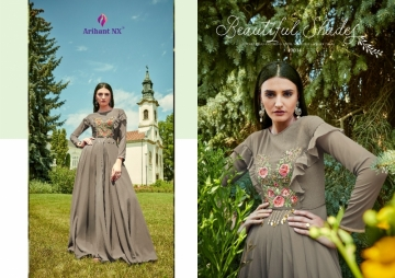 ARIHANT NX GLAM UP VOL-02 GEORGETTE PARTY WEAR GOWNS (10) JPG