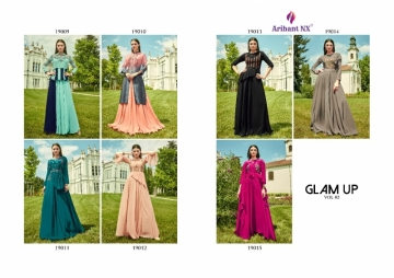 ARIHANT NX GLAM UP VOL-02 GEORGETTE PARTY WEAR GOWNS (13) JPG