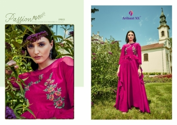 ARIHANT NX GLAM UP VOL-02 GEORGETTE PARTY WEAR GOWNS (14) JPG