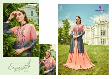 ARIHANT NX GLAM UP VOL-02 GEORGETTE PARTY WEAR GOWNS (15) JPG