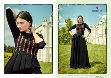 ARIHANT NX GLAM UP VOL-02 GEORGETTE PARTY WEAR GOWNS (2) JPG