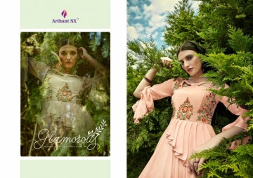 ARIHANT NX GLAM UP VOL-02 GEORGETTE PARTY WEAR GOWNS (4) JPG