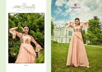 ARIHANT NX GLAM UP VOL-02 GEORGETTE PARTY WEAR GOWNS (6) JPG