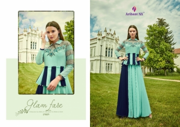 ARIHANT NX GLAM UP VOL-02 GEORGETTE PARTY WEAR GOWNS (8) JPG