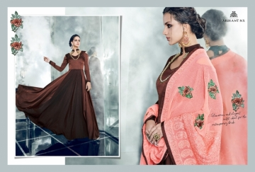 ARIHANT NX LATEST CHERRY FULL STITCHED PARTY WEAR GOWNS WHOLESALE PRICE (1) JPG