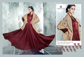 ARIHANT NX LATEST CHERRY FULL STITCHED PARTY WEAR GOWNS WHOLESALE PRICE (10) JPG