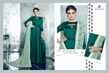 ARIHANT NX LATEST CHERRY FULL STITCHED PARTY WEAR GOWNS WHOLESALE PRICE (11) JPG