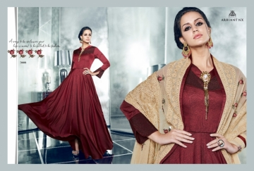 ARIHANT NX LATEST CHERRY FULL STITCHED PARTY WEAR GOWNS WHOLESALE PRICE (13) JPG