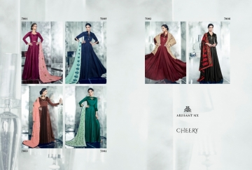 ARIHANT NX LATEST CHERRY FULL STITCHED PARTY WEAR GOWNS WHOLESALE PRICE (14) JPG