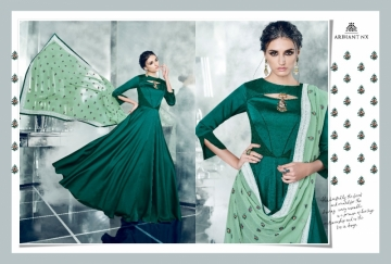 ARIHANT NX LATEST CHERRY FULL STITCHED PARTY WEAR GOWNS WHOLESALE PRICE (2) JPG