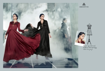 ARIHANT NX LATEST CHERRY FULL STITCHED PARTY WEAR GOWNS WHOLESALE PRICE (4) JPG