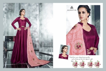 ARIHANT NX LATEST CHERRY FULL STITCHED PARTY WEAR GOWNS WHOLESALE PRICE (6) JPG