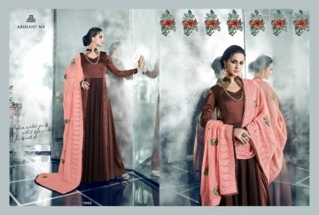 ARIHANT NX LATEST CHERRY FULL STITCHED PARTY WEAR GOWNS WHOLESALE PRICE (8) JPG