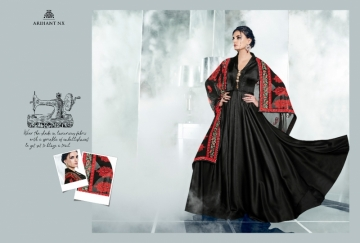 ARIHANT NX LATEST CHERRY FULL STITCHED PARTY WEAR GOWNS WHOLESALE PRICE (9) JPG