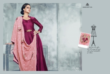 ARIHANT NX LATEST CHERRY FULL STITCHED PARTY WEAR GOWNS WHOLESALE PRICE (15) JPG