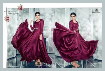 ARIHANT NX LATEST CHERRY FULL STITCHED PARTY WEAR GOWNS WHOLESALE PRICE (3) JPG