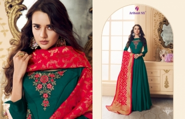 ARIHANT NX PRESENTS RIZWANA VOL 3 EXCLUSIVE PARTY WEAR SATIN SUITS WITH BANARASI DUPATTA COLLECTION WHOLESALE (02).JGP