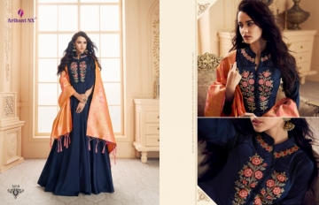 ARIHANT NX PRESENTS RIZWANA VOL 3 EXCLUSIVE PARTY WEAR SATIN SUITS WITH BANARASI DUPATTA COLLECTION WHOLESALE (04).JGP