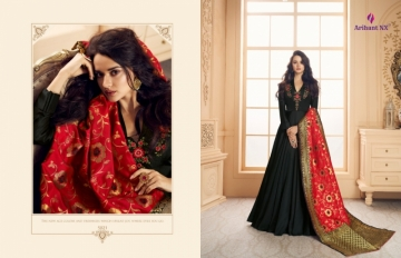 ARIHANT NX PRESENTS RIZWANA VOL 3 EXCLUSIVE PARTY WEAR SATIN SUITS WITH BANARASI DUPATTA COLLECTION WHOLESALE (06).JGP