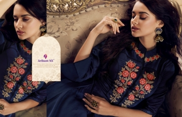ARIHANT NX PRESENTS RIZWANA VOL 3 EXCLUSIVE PARTY WEAR SATIN SUITS WITH BANARASI DUPATTA COLLECTION WHOLESALE (07).JGP