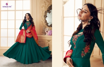 ARIHANT NX PRESENTS RIZWANA VOL 3 EXCLUSIVE PARTY WEAR SATIN SUITS WITH BANARASI DUPATTA COLLECTION WHOLESALE (08).JGP