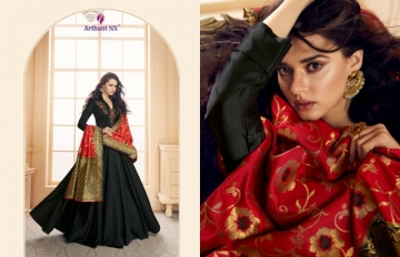 ARIHANT NX PRESENTS RIZWANA VOL 3 EXCLUSIVE PARTY WEAR SATIN SUITS WITH BANARASI DUPATTA COLLECTION WHOLESALE (09).JGP
