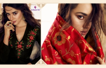 ARIHANT NX PRESENTS RIZWANA VOL 3 EXCLUSIVE PARTY WEAR SATIN SUITS WITH BANARASI DUPATTA COLLECTION WHOLESALE (10).JGP