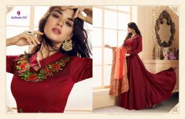 ARIHANT NX PRESENTS RIZWANA VOL 3 EXCLUSIVE PARTY WEAR SATIN SUITS WITH BANARASI DUPATTA COLLECTION WHOLESALE (11).JGP
