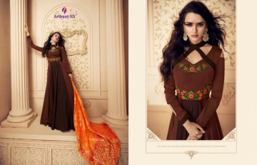 ARIHANT NX PRESENTS RIZWANA VOL 3 EXCLUSIVE PARTY WEAR SATIN SUITS WITH BANARASI DUPATTA COLLECTION WHOLESALE (12).JGP