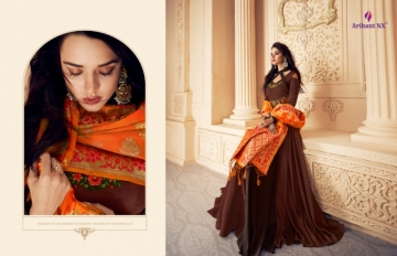 ARIHANT NX PRESENTS RIZWANA VOL 3 EXCLUSIVE PARTY WEAR SATIN SUITS WITH BANARASI DUPATTA COLLECTION WHOLESALE (14).JGP