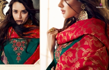 ARIHANT NX PRESENTS RIZWANA VOL 3 EXCLUSIVE PARTY WEAR SATIN SUITS WITH BANARASI DUPATTA COLLECTION WHOLESALE (15).JGP