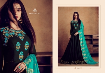 ARIHANT NX RIZWANA VOL 2 HEAVY RAYON EMBROIDERED GOWN WHOLESALE PRICE (16)JPG