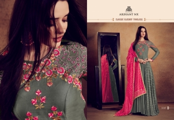 ARIHANT NX RIZWANA VOL 2 HEAVY RAYON EMBROIDERED GOWN  WHOLESALE PRICE (4) JPG