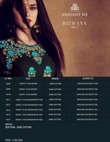 ARIHANT NX RIZWANA VOL 2 HEAVY RAYON EMBROIDERED GOWN  WHOLESALE PRICE (6) JPG